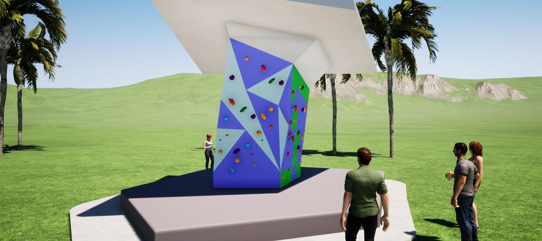 adstrut climbing wall design